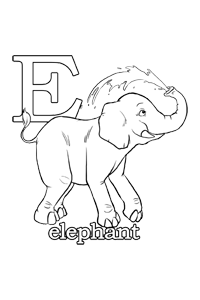 E - Alphabet Coloring Book