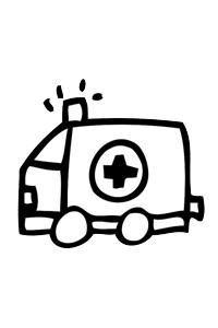 Ambulance1 - Cars Coloring Book