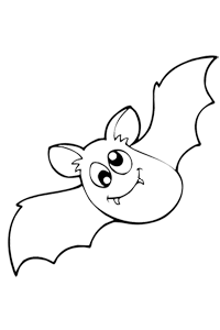 Goofy Bat - Halloween Coloring Book