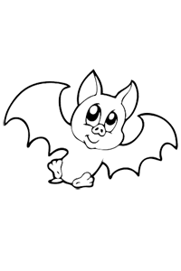 Happy Bat - Halloween Coloring Book