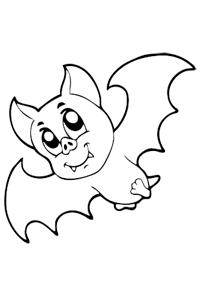 Vampire Bat - Halloween Coloring Book