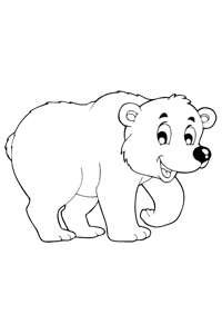 Bear - Animal Coloring Book