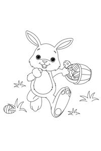 Running Rabbit - Easter Egg Coloring Book