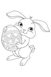 Cute bunny - Easter Egg Coloring Book