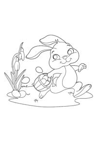Hiding Eggs - Easter Egg Coloring Book