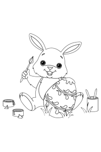 Painting Eggs - Easter Egg Coloring Book
