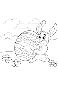Bunny Egg - Easter Egg Coloring Book