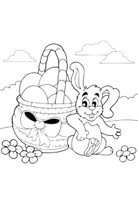 Basket of Eggs - Easter Egg Coloring Book