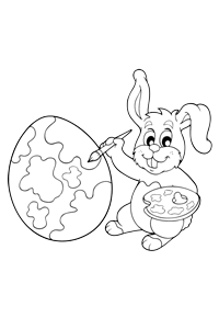 Rabbit Painting - Easter Egg Coloring Book