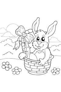 Easter Bunny - Easter Egg Coloring Book