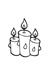 Candles - Christmas Coloring Book