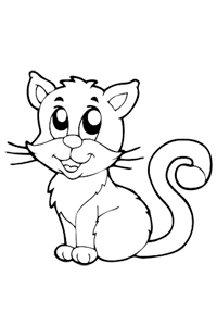 Kitten - Halloween Coloring Book