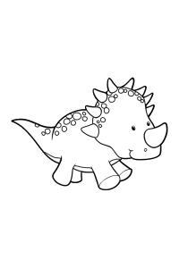 Triceratops - Dinosaur Coloring Book