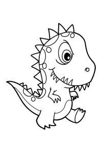 dinosaur8 - Dinosaur Coloring Book