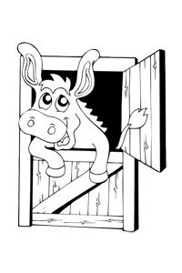 Donkey - Animal Coloring Book