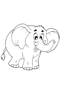 Elephant - Animal Coloring Book