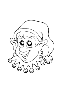 Elf - Christmas Coloring Book
