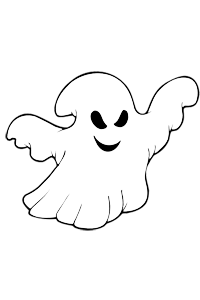 Scary Ghost - Halloween Coloring Book
