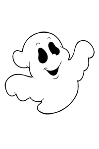Friendly Ghost - Halloween Coloring Book