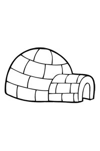 Igloo - Christmas Coloring Book
