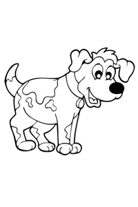 Dog - Kids Coloring Book