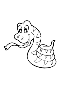 Snake - Kids Coloring Book