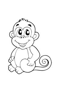 Monkey2 - Animal Coloring Book