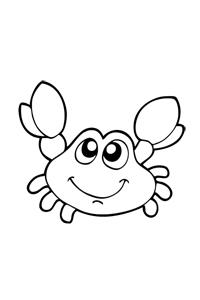 Small Crab - Ocean Coloring Book