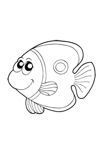 Butterfly Fish - Ocean Coloring Book