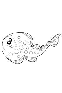 Long Flounder - Ocean Coloring Book