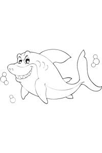 Shark Swimming - Ocean Coloring Book