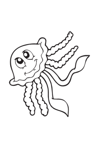 Silly Squid - Ocean Coloring Book
