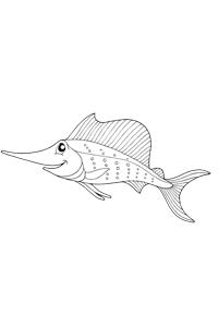 Sword Fish - Ocean Coloring Book