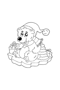 Polar Bear - Christmas Coloring Book