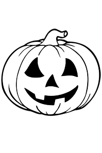 Carved Pumpkin - Halloween Coloring Book