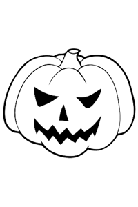 Scary Jack-o-lantern - Halloween Coloring Book