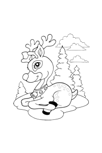 Rudolph - Christmas Coloring Book