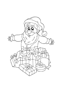 Santa Presents - Christmas Coloring Book