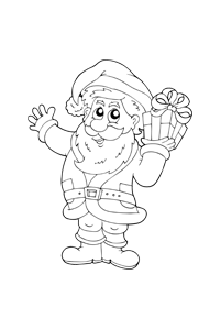 Santa Claus - Christmas Coloring Book