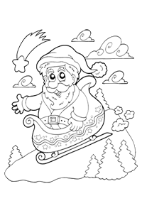 Santa Sleigh - Christmas Coloring Book