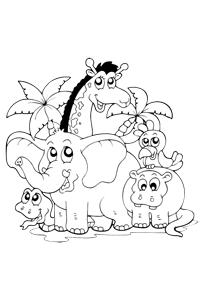 Scene1 - Animal Coloring Book