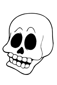 Skull - Halloween Coloring Book