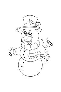 Christmas Snowman - Christmas Coloring Book