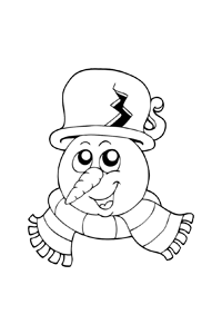Snowman head - Christmas Coloring Book