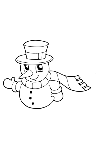 Snowman - Christmas Coloring Book