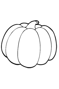 Big Round Pumpkin - Thanksgiving Coloring Book