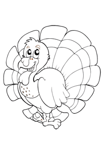 Traditional Thanksgiving Turkey - Thanksgiving Coloring Book