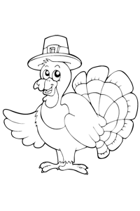 Pilgrim Turkey - Thanksgiving Coloring Book