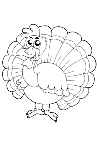 Tom the Turkey - Thanksgiving Coloring Book