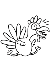 Running Turkey - Thanksgiving Coloring Book